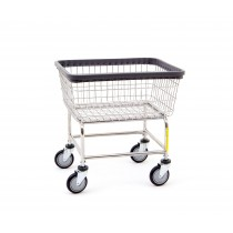 100E Wire Frame Metal Standard Laundry Cart Chrome - R&B Wire