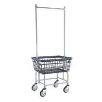 Standard Laundry Cart w/ Double Pole Rack, Dura-Seven