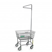 100E91/ANTI Antimicrobial Laundry Cart w/ Single Pole Rack
