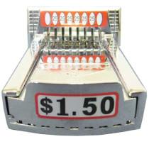 20-00-000-150 Vertical 8 V8 Coin Slide / Coin Chute Vended For $1.50 - Greenwald
