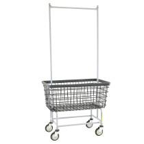 """Large Capacity 6 Bu. """"Big Dog"""" Laundry Cart w/ Double Pole Rack, Dura-Seven"""