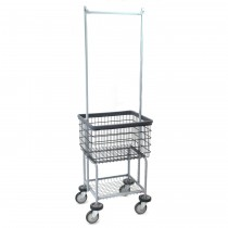 Deluxe Elevated Laundry Cart w/ Double Pole Rack, Dura-Seven
