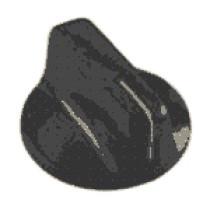 432-003 Knob, Pointer Control, Dryer Timer Control, 1-1/2 Inch Dia, 1/4 Inch Shaft