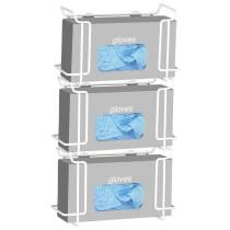 Triple Wire Glove Box Dispenser, White (4 pack)