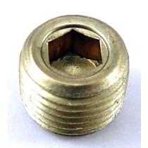 5SP0CBEHS Npt Plug 1/8 Hxctrsnk Brass