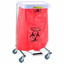"""Biohazardous Waste"" Disposable Poly-Liner Bag, Red Bag/Black Print  (200/case)"