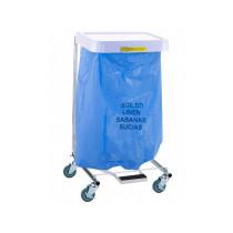 """""""Soiled Linen"""" Disposable Poly-Liner Bag, Blue Bag/Black Print        (200/case)"""