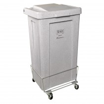 693 3 Bushel Poly Laundry Hamper, White