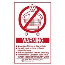 Wall Mounted Warning Sign - English