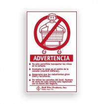 903S Wall Mounted Warning Sign - Spanish