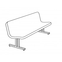 Bench Seating BFD-48-BENCH With Back In Firecracker