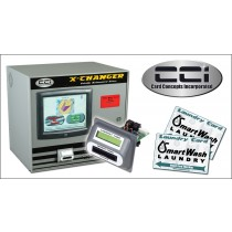 C-1504 X Changer Value Station System (2 Touch Screen Kiosks Included). Version 8 LaundryCard Software. Multi-Vend Site Software. Networking Essentials included.