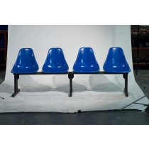Modular Seating CMD-4 And 4 Chairs In Regal Blue