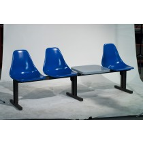 Modular Seating CMD-4T With 1 Table And 4 Chairs In Regal Blue