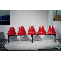Modular Seating CMD-5 And 5 Chairs In Holly Red