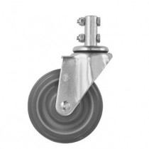 "4"" Caster Wheel with Shaft that has 2 Bolts for installation - CSTR87G (R&B Wire)"