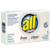 D-S-2979351 ALL Free and clear HE Liquid Detergent 1 Load Pouch - Case of 100 Units