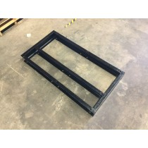 """Continental Girbau 50 LB 6"""" Height Double Base. Custom made, steel frame, painted with industrial black paint."""