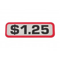 Pack of 12 - $1.25 Price Sticker for Coin Slides
