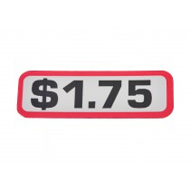 Pack of 12 - $1.75 Price Sticker for Coin Slides