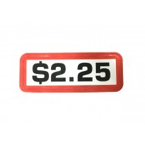 Pack of 12 - $2.25 Price Sticker for Coin Slides