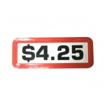 Pack of 12 - $4.25 Price Sticker for Coin Slides