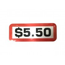 Pack of 12 - $5.50 Price Sticker for Coin Slides