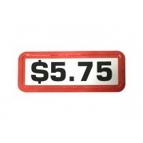 Pack of 12 - $5.75 Price Sticker for Coin Slides