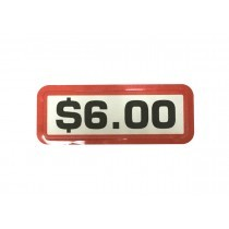 Pack of 12 - $6.00 Price Sticker for Coin Slides