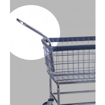 Accessory Cart Handle Fits All RandB Laundry Carts w/ Hardware