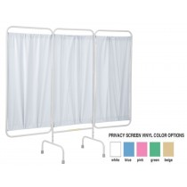 Three Panel Stationary Privacy Screen, USA Made Blue Color