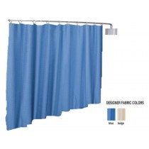Designer Antimicrobial Telescoping Curtain - Complete Kit Beige Color