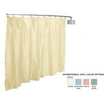 Antimicrobial Vinyl Wall Mount Telescoping Privacy Screen - Complete Kit Cream Color