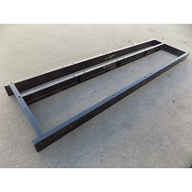 """Ipso 50 LB 8"""" Height Quadruple Base. Custom made, steel frame, painted with industrial black paint."""