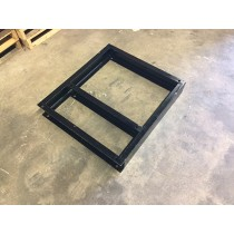 """Wascomat / Laundrylux 30 LB 6"""" Height Single Base. Custom made, steel frame, painted with industrial black paint."""