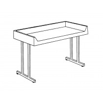 "Folding Tables TFD-306 72""x30"" In Peaceful Blue"