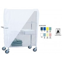 """Utility Cart 24"""" Wire Frame and White Nylon Cover 24x48x54"""