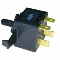 WP3395385 Dryer Push to Start Switch 4 Wire PTS Rotary 1 Inch Square Black Body