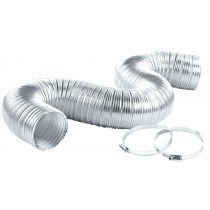 "Dryer Vent Kit 5 Feet - 4"" Wide - 2 Clamps"