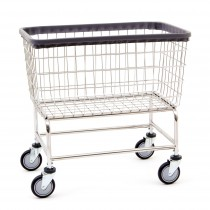 "200F Large Capacity  Wire Frame Metal Laundry Cart Chrome- R&B Wire 33.75""L x 21.5""W x 13.75""D x 30.5""H"