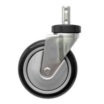 "CSTR88G R&B Wire Laundry Cart Caster Wheel 5"" Grey Clean Wheel System"
