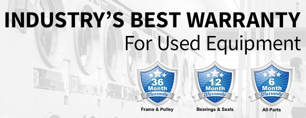 Industry's Best Warranty on Used Equipment