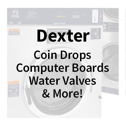 Dexter Laundry Parts - Coin Drops, Computer Boards, Water Valves & More!